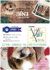 熊本市北区のペットサロン(犬の美容室)ENJUの地図