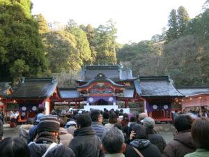 正月の霧島神宮の混雑